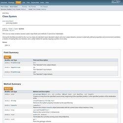 System (Java Platform SE 7 )