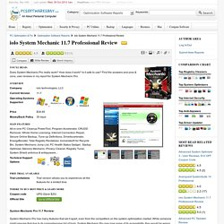 iolo System Mechanic 11.7 Professional Review