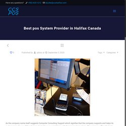 Best pos System Provider in Halifax Canada - CCS POS