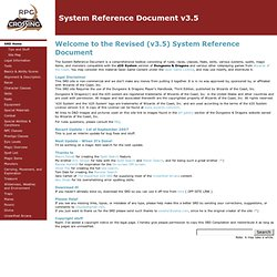 System Reference Document v3.5