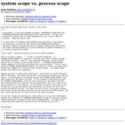 system scope vs. process scope