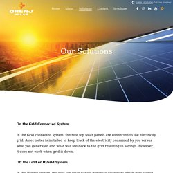 Solar Energy Solution Provider In India – Orenj Solar