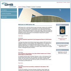 OHB System ENG - Space Systems + Security