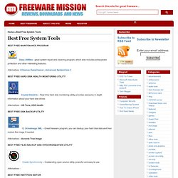 Best Free System Tools | Freeware Mission