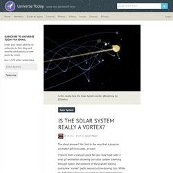 Is the Solar System Really a Vortex? - Universe TodayUniverse Today