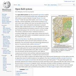 Open field system