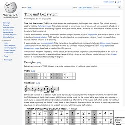 Time unit box system