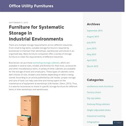 Furniture for Systematic Storage in Industrial Environments