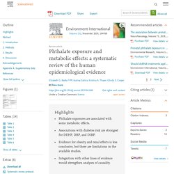 Phthalate exposure and metabolic effects: a systematic review of the human epidemiological evidence