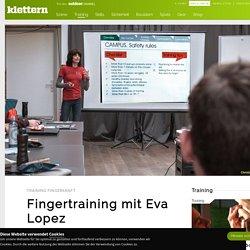 Systematisches Fingertraining von Eva Lopez - klettern.de