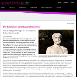 Systembiologie - Philosophie