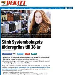 Sänk Systembolagets åldersgräns till 18 år