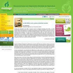 Le défi 2050 de notre système alimentaire mondial