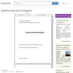 Système éducatif en Bulgarie
