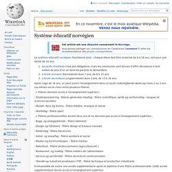 Système éducatif norvégien