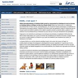 Système ESAR: ESAR, c'est quoi ?