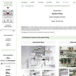 String Système - système d'étagères modulable