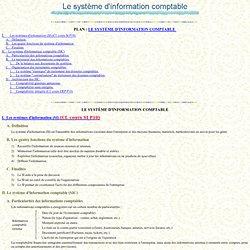 Le système d'information comptable