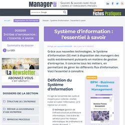 Système d'Information - Manager GO!