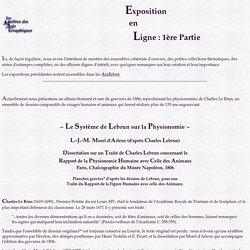 Système de Lebrun sur la Physionomie (I), par Morel d'Arleux, 1806