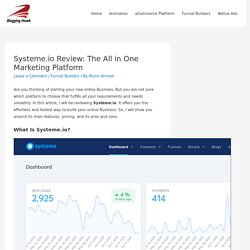 Systeme.io Review: The All in One Marketing Platform