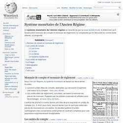 Système monétaire de l'Ancien Régime