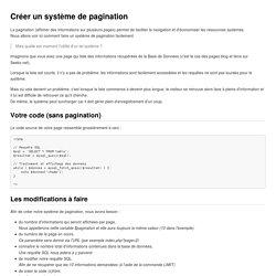 Créer un système de pagination — Seebz's archives —
