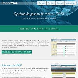 Système de gestion de contenu de site Web, CMS - PenseWeb, Sherbrooke