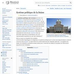 Système politique de la Suisse
