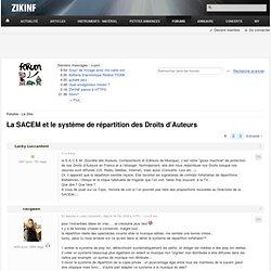 La SACEM et le système de répartition des Droits d'Auteurs