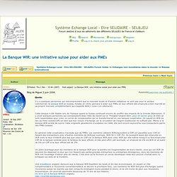 La Banque WIR: une initiative suisse pour aider aux PMEs