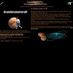système solaire en 3D