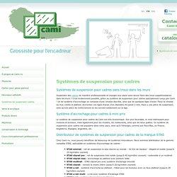 Système de suspensions pour cadres & peintures : Pensez Cami nv !