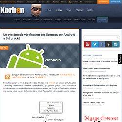 Le système de vérification des licences sur Android a été cracké