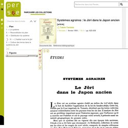 Systèmes agraires : le Jôri dans le Japon ancien