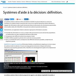 Systèmes d'aide à la décision: définition.