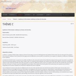 Thème C - Systèmes d'information médicaux et base de données