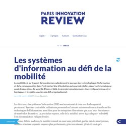 Les systèmes d'information au défi de la mobilité
