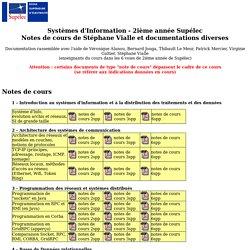 """Cours de """"Systèmes d'Information"""" de Supélec"""