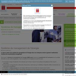Systèmes de management - Système de management de l'énergie