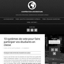 10 systèmes de vote pour faire participer vos étudiants en classe