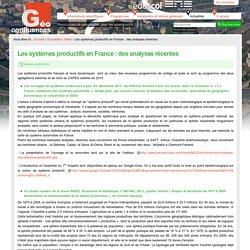 Les systèmes productifs en France : des analyses récentes