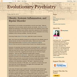 Evolutionary Psychiatry: Obesity, Systemic Inflammation, and Bipolar Disorder