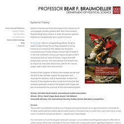 Systemic Theory | Professor Bear F. Braumoeller