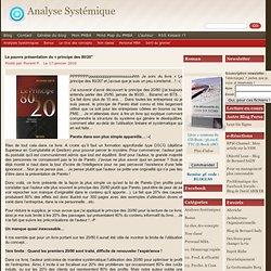 Analyse Systémique » Blog Archive » La pauvre présentation du «principe des 80/20″