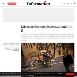 Krisen og den udeblevne systemkritik II