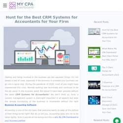 CRM Systems for Accountants: Hunt the Best for Your Firm