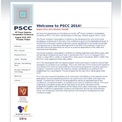 PSCC 2014 - 18th Power Systems Computation Conference (PSCC'14)