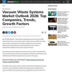 Vacuum Waste Systems Market Outlook 2026: Top Companies, Trends, Growth Factors