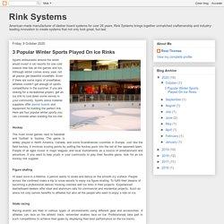 3 Popular Winter Sports Played On Ice Rinks